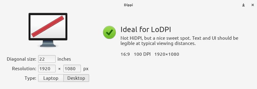 """Flatpak - Dippi resolução de 22"""" para desktop."""