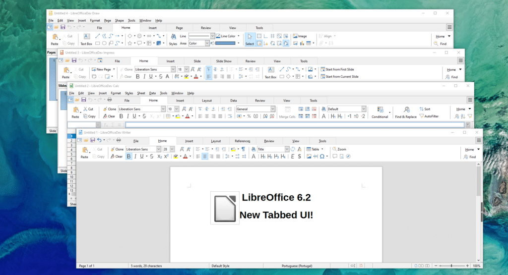 LibreOffice 6.2 acaba de ser lançado