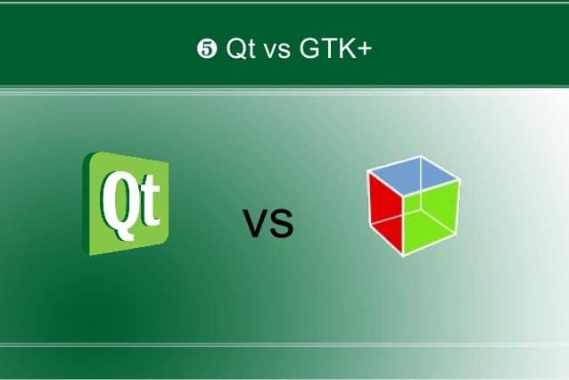 Qual a diferença entre GTK e Qt?