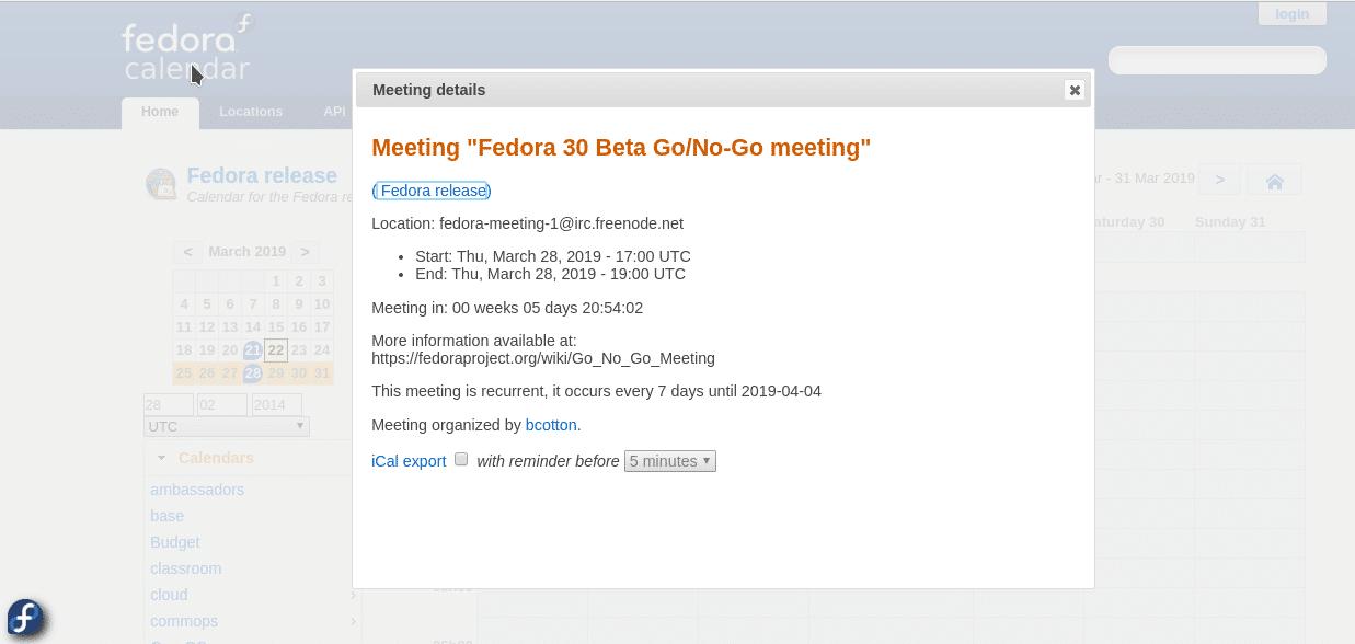 Atrasa lançamento do Fedora 30 Beta