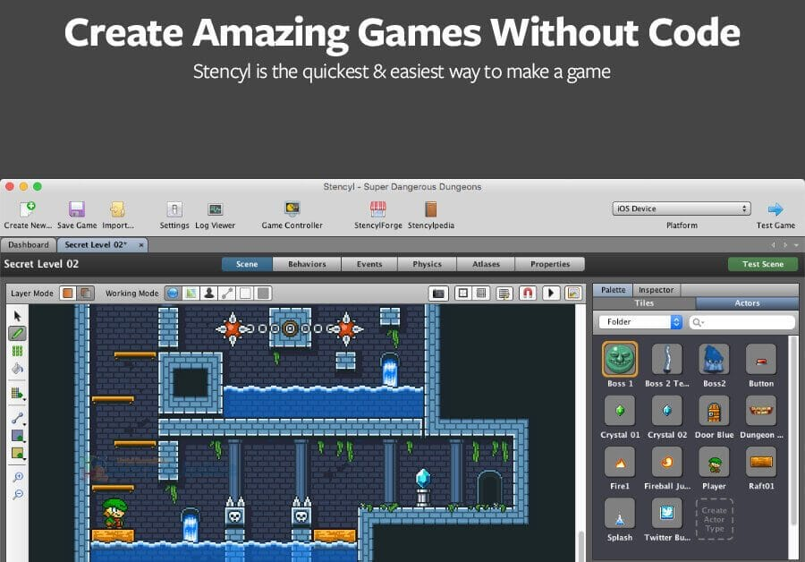 Stencyl Create Games Without Code