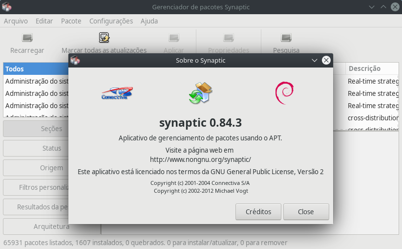 Synaptic Package Manager 0.84.3