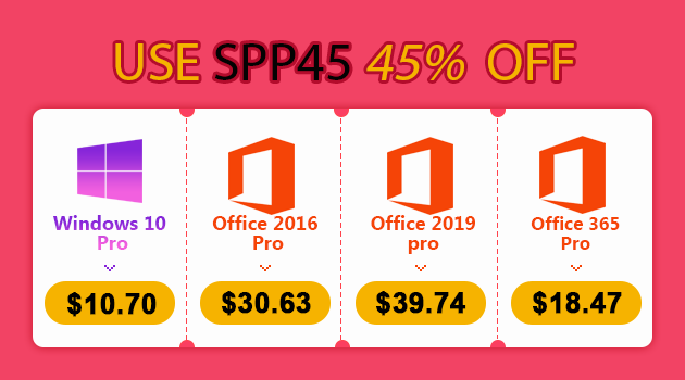 Promoção da Black Friday: Windows 10 pro key por R$ 44,61, Office2019 Pro @ $39.74 (R$ 167.81) e Office365 Pro @ $18.47 (R$ 77,01) na MMORC.COM