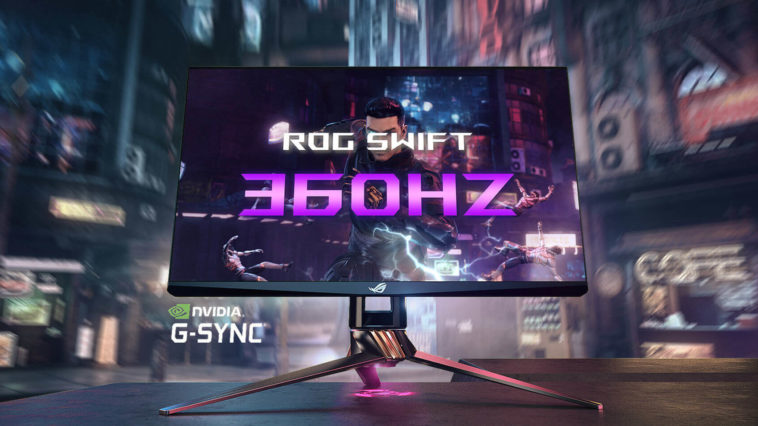 O Asus ROG Swift 360 Hz é o monitor mais rápido do mundo