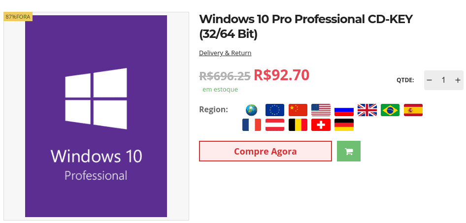 Adquira seu Windows 10 Pro por menos de R$ 65 e Office 2019 por menos de R$ 182 na Goodoffer24