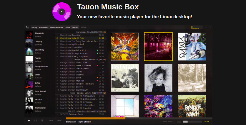 Tauon Music Box 6.0 lançado com novo seletor de temas