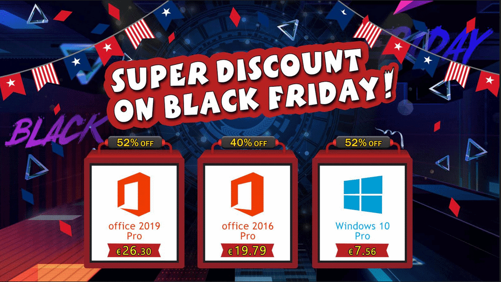 Promoção especial Black Friday da U2Key: Windows 10 Pro R$ 41,27 e Office 2016 Pro R$ 108,02