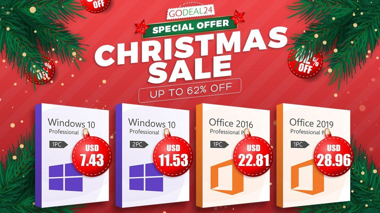 Natal na GoDeal com Windows 10 Pro $ 7.43 e Office 2019 Pro $28.96