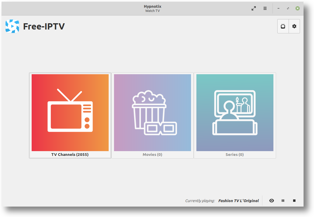 Assista TV ao vivo no Linux com o aplicativo de IPTV Hypnotix