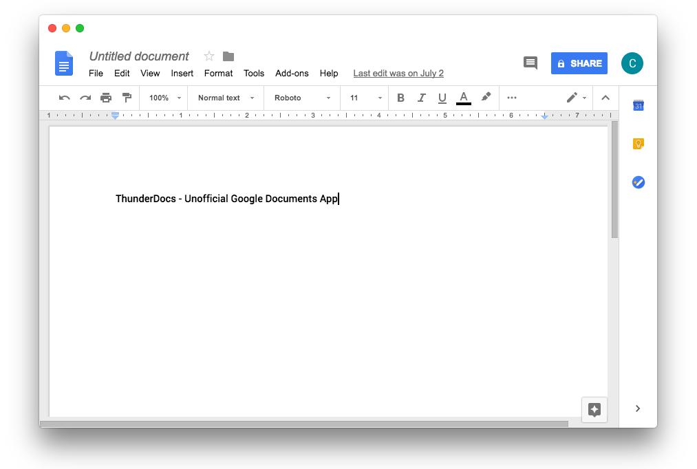como-instalar-o-thunderdocs-um-app-nao-oficial-google-docs-no-ubuntu-linux-mint-fedora-debian