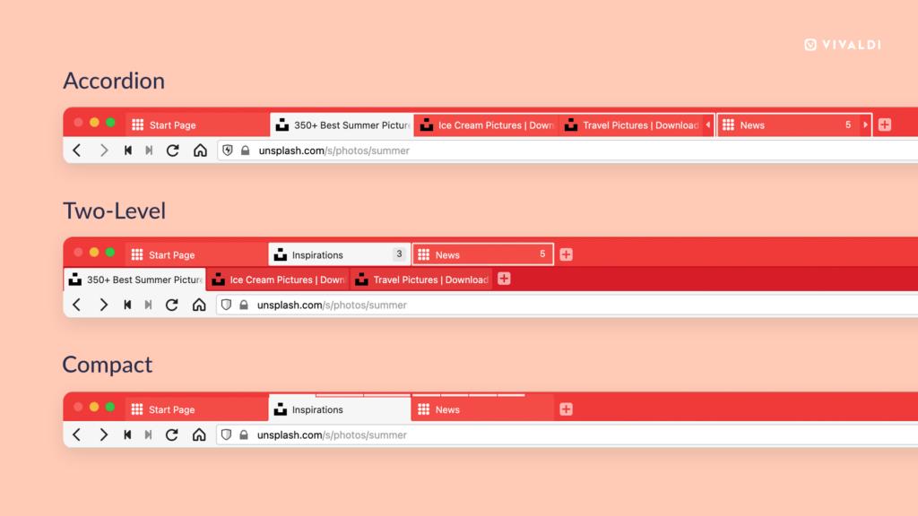 Navegador Vivaldi quer resolver o gerenciamento de abas com Accordion Tabs e Command Chains