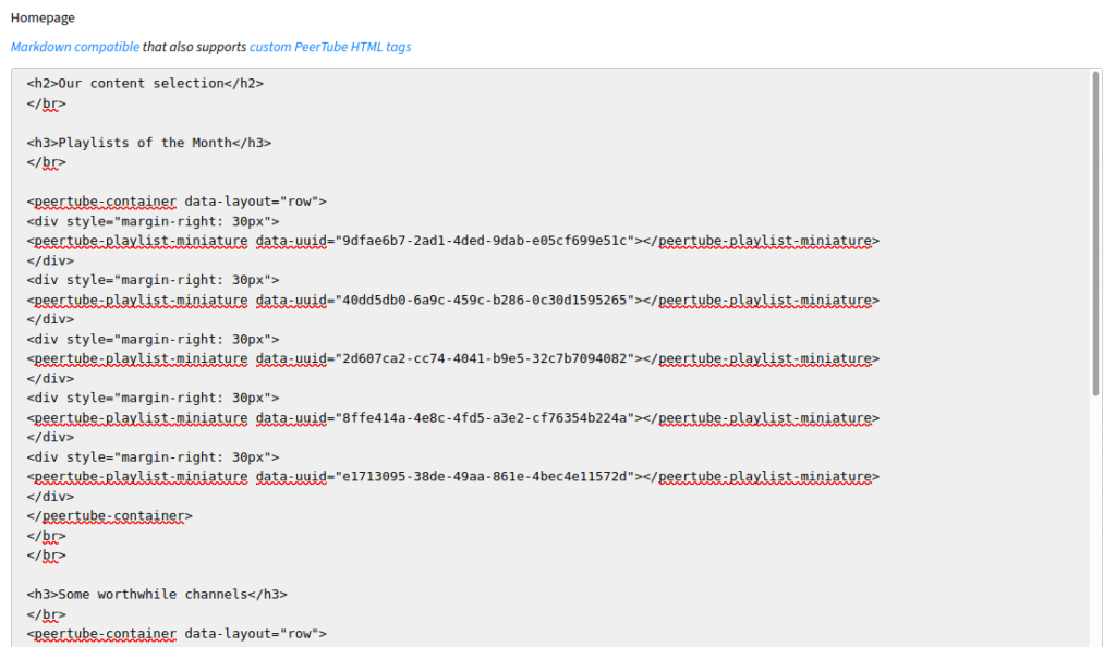 PeerTube 3.3 vem com suporte para personalizar a página inicial