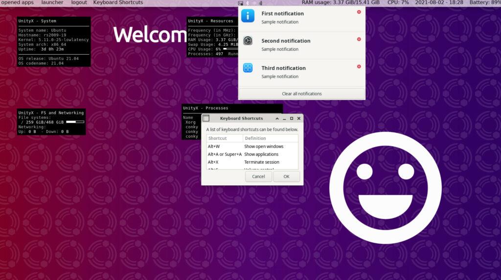 Distribuição Linux UnityX Rolling permite experimentar as novidades do ambiente Unity 10