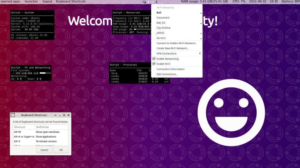 Ambiente de desktop UnityX 10 apresenta novos designs de painel e barra lateral
