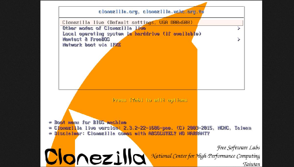 Ferramenta de clonagem Clonezilla Live 2.7.3 lançada com várias melhorias