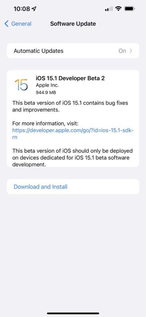 ios-15-1-beta-2-corrige-bug-de-desbloqueio-com-apple-watch-no-iphone-13