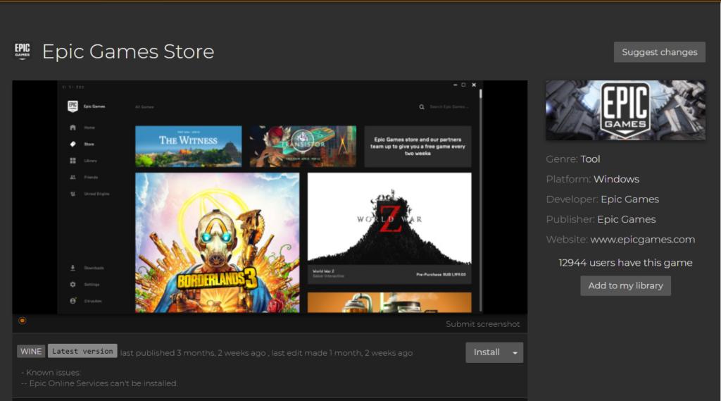 Lutris 0.5.9 lançado com suporte para a Epic Games Store e novas opções