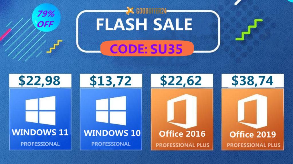 Flash Sale: adquira o legítimo Windows 10 Pro OEM Key por apenas $13 e Windows 11 po apenas $22